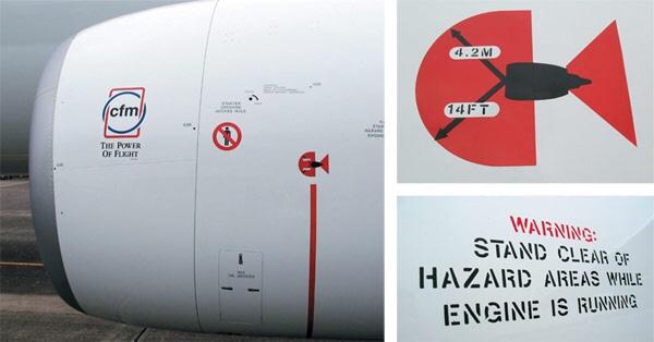 hazard-placards Aircraft Engine Spirals
